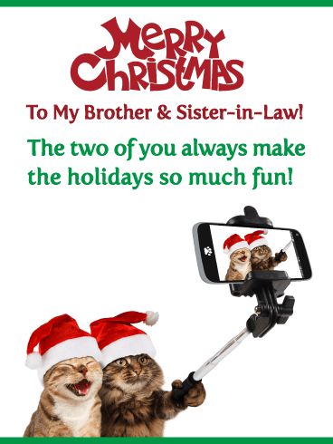 So Much Fun! Merry Christmas Card for Brother & Sister-in-Law