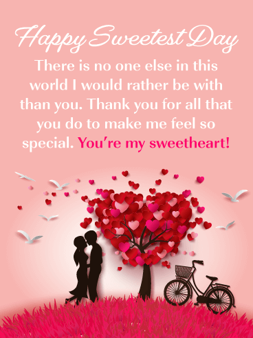 Thank You for All You Do – Happy Sweetest Day Card