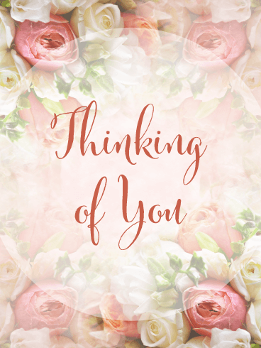 Exquisite Flowers – Thinking of You Card