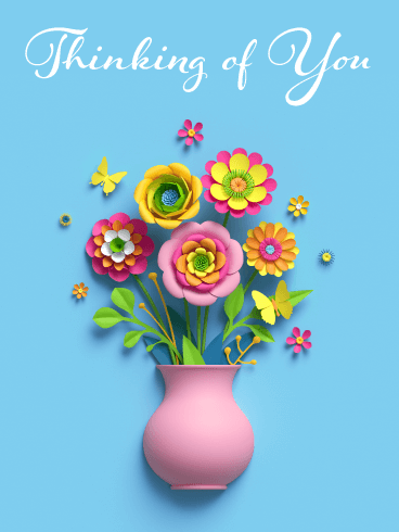 Flowers for You! Thinking of You Card