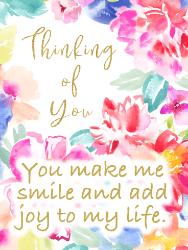 Pastel Flowers – Thinking of You Card
