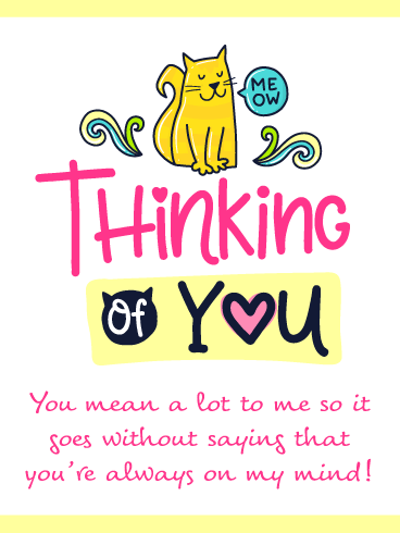 Adorable Cat – Thinking of You Card