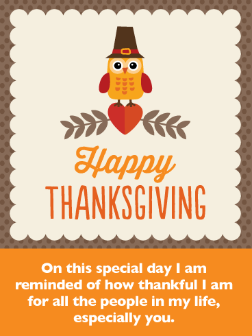 Thankful for You - Happy Thanksgiving Card