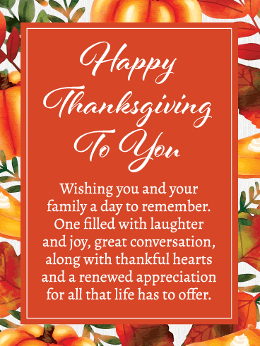 Thankful Hearts - Happy Thanksgiving Card