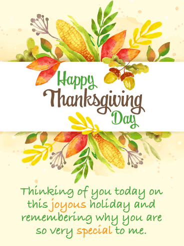 Thinking of You - Happy Thanksgiving Card