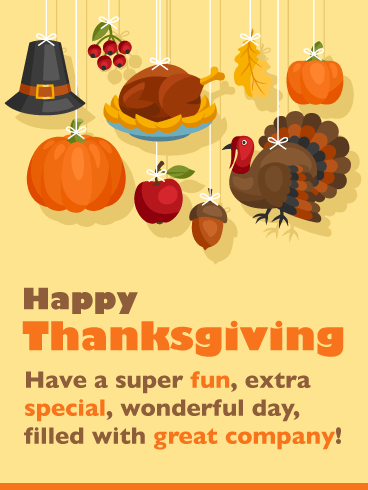 Great Company - Happy Thanksgiving Day Card