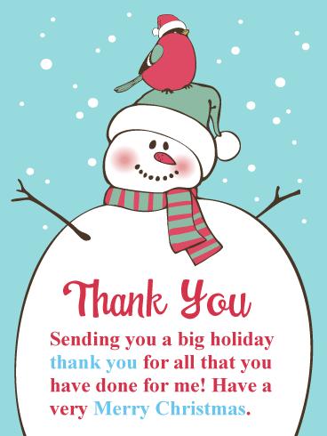 thank you christmas image