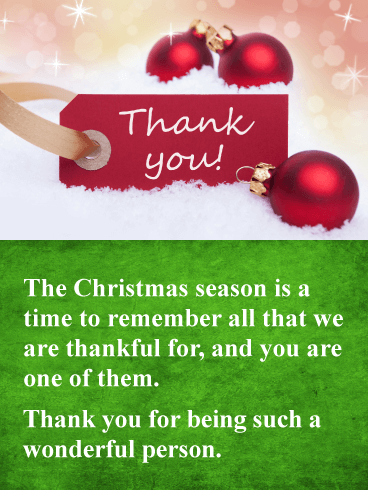 You're Wonderful - Christmas Thank You Card