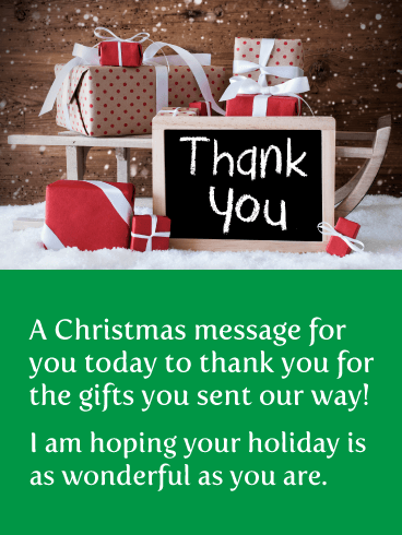 Fantastic Holiday Gifts - Christmas Thank You Card
