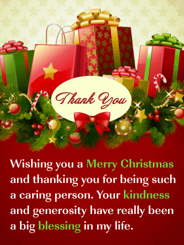 You're So Kind - Christmas Thank You Card