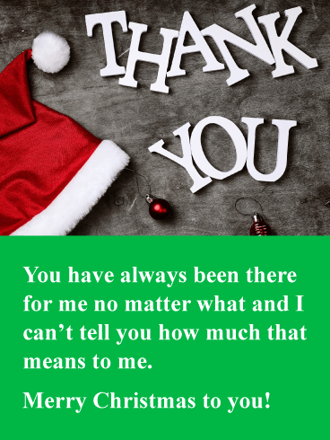 Always There for Me - Christmas Thank You Card