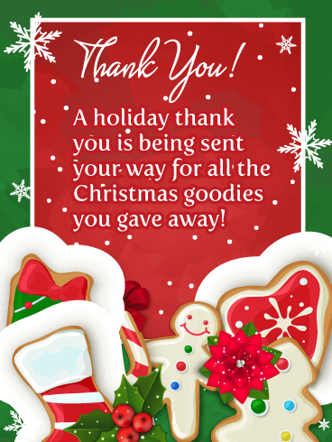 Holiday Goodies! Christmas Thank You Card