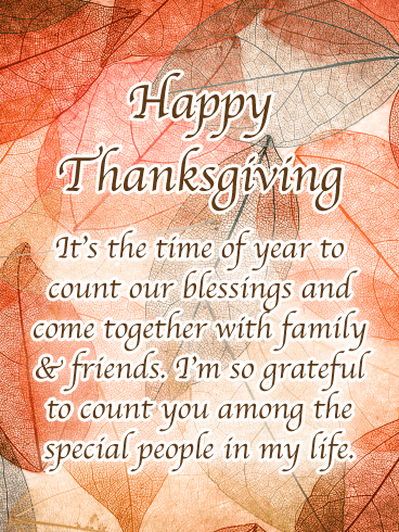 Come together with family & friends - Happy Thanksgiving Day Card
