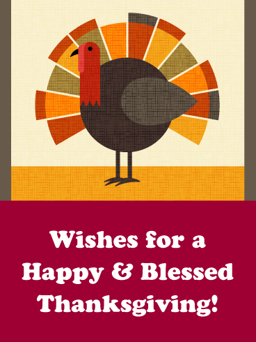 A Happy & Blessed Thanksgiving - Happy Thanksgiving Day Card