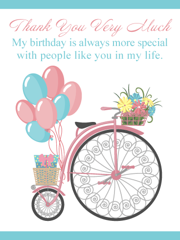 People Like You – Thank You Card for Birthday Wishes