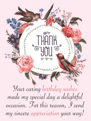 A Delightful Occasion – Thank You Card for Birthday Wishes