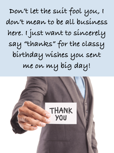 Not So Strictly Business- Thank You for the Birthday Wishes