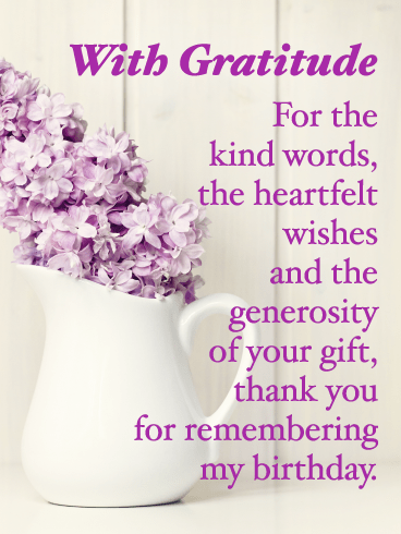 Thank you so much greeting card With thanks Flower Grateful Appreciation