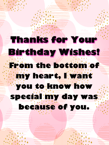 The Bright and Bubble Background- Thank You Cards for Birthday Wishes