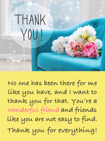 Lovely flowers – Thank You Card for Friend