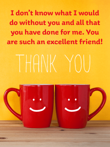 Happy Mugs – Thank You Card for Friend
