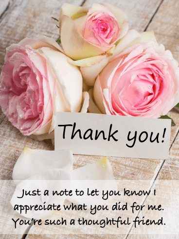 Beautiful Roses – Thank You Card for Friend