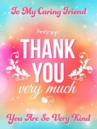 So Very Kind – Thank You Card for Friend