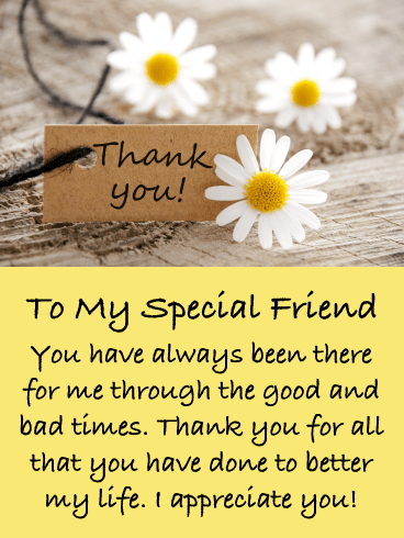 Pretty Daisies – Thank You Card for Friend