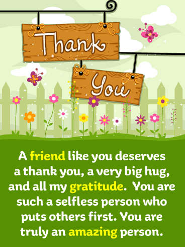 Butterflies & Flowers – Thank You Card for Friend