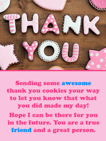 Special Cookies – Thank You Card for Friend
