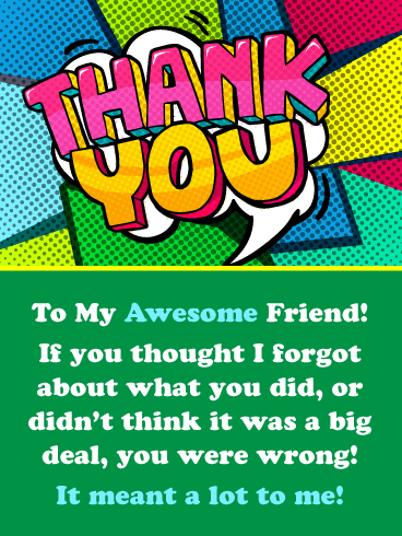 Cool Shapes & Colors – Thank You Card for Friend