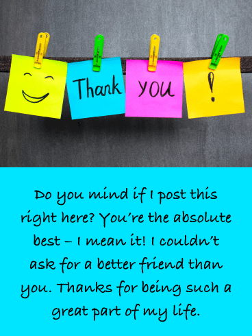 Post-It Notes - Thank You Card for Friend