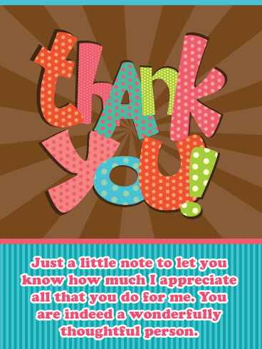 I Appreciate You – Thank You Card