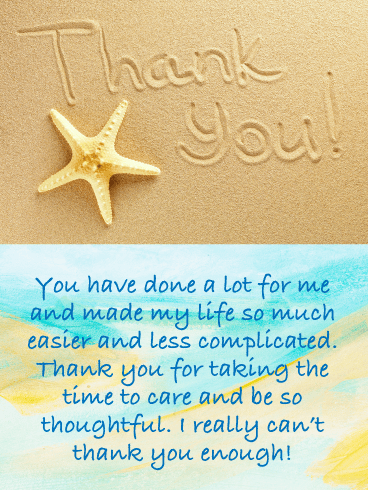 Sandy Beach – Thank You Card