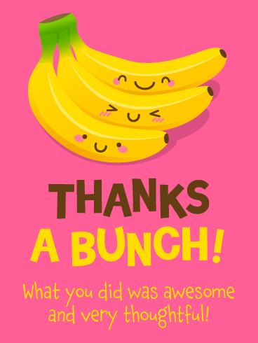 Adorable Bananas – Thank You Card