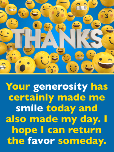 Cute Smiley Faces – Thank You Card
