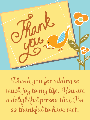 So Much Joy – Thank You Card