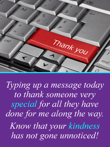 A Special Message – Thank You Card
