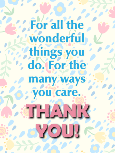 Bright and Cheerful - Thank You Card