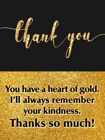 A Heart of Gold - Thank You Card