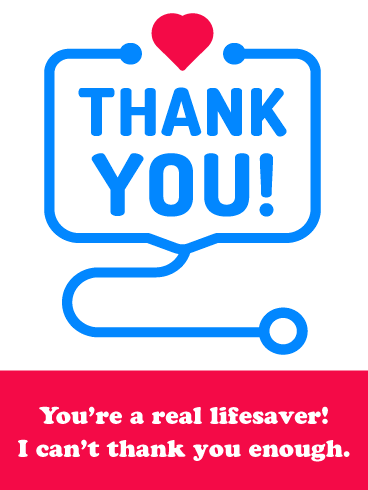 You're a Lifesaver- Thank You Card