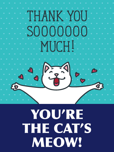 The Cat's Meow- Thank You Card