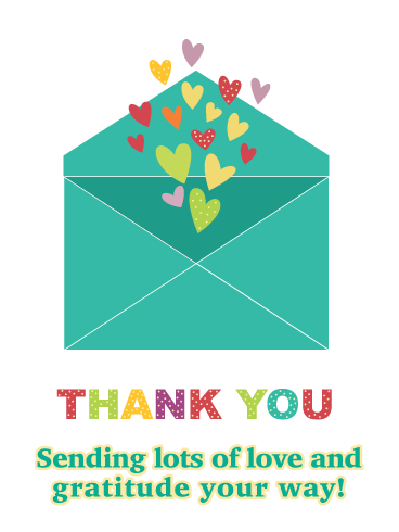 Love and Gratitude- Thank You Card