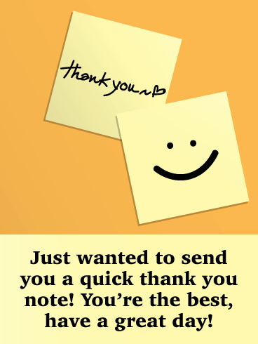 Quick Note- Thank You Card