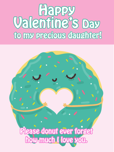 Donut Forget - Funny Valentine's Day Card for Daughter