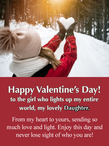 Love & Light - Happy Valentine's Day Card for Daughter