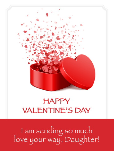 Sending Lots of Love - Happy Valentine's Day Card for Daughter