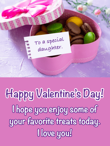 Macarons - Happy Valentine's Day Card for Daughter