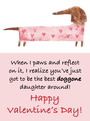 Paws and Reflect - Funny Valentine's Day Card for Daughter
