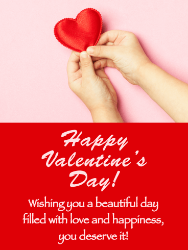 Simply Beautiful - Happy Valentine's Day Card for Everyone